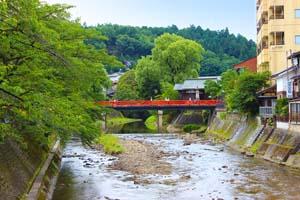 飛騨高山の赤い橋 宮川中橋