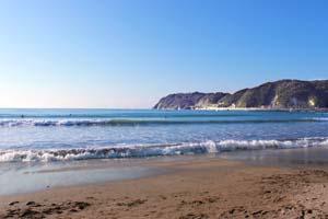 砂浜と海と空の写真