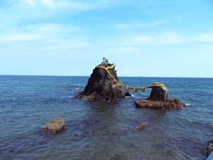 三重二見の夫婦岩の写真