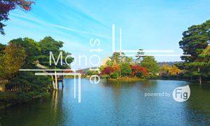 金沢兼六園と雪吊りの写真