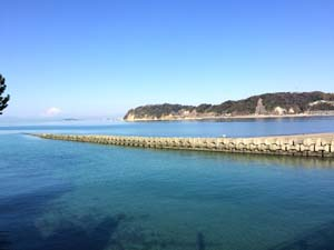 逗子海岸の海の写真