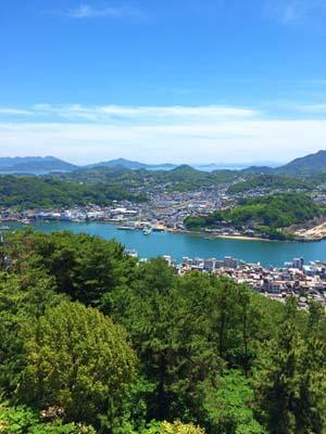 千光寺から見る尾道の風景の写真