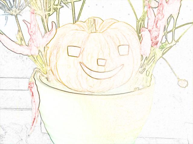 colorsheet ハロウィーン用かぼちゃのぬり絵20008完成イメージ