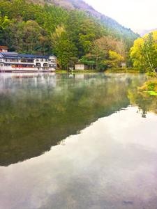 湯布院にある金鱗湖の写真