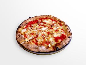 焼きたてのピザの写真