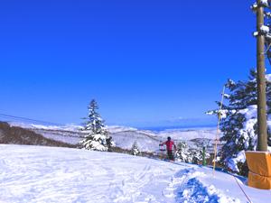 スキー場と青空の写真